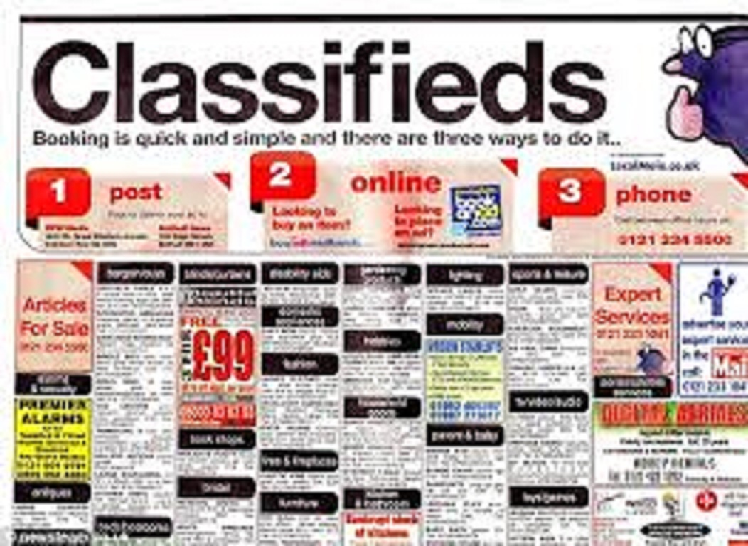I post Classiified Ads On 5 Top US, UK. CANADA or Ausralian top Classified Ad Sites In Two days