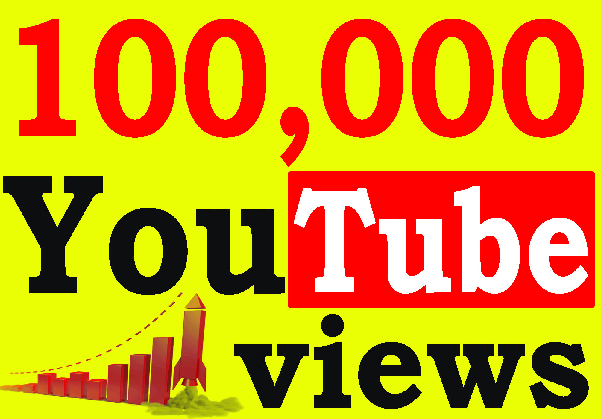 Fast 100,000+ High Retention 90 To 100 Percent YT Viiews