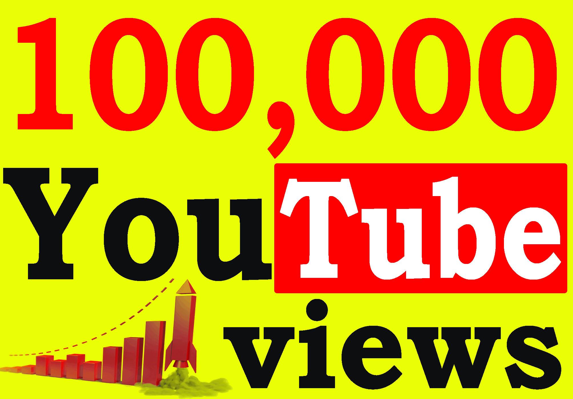Fast 100,000+ High Retention 90 To 100 Percent Non Drop Vi ews