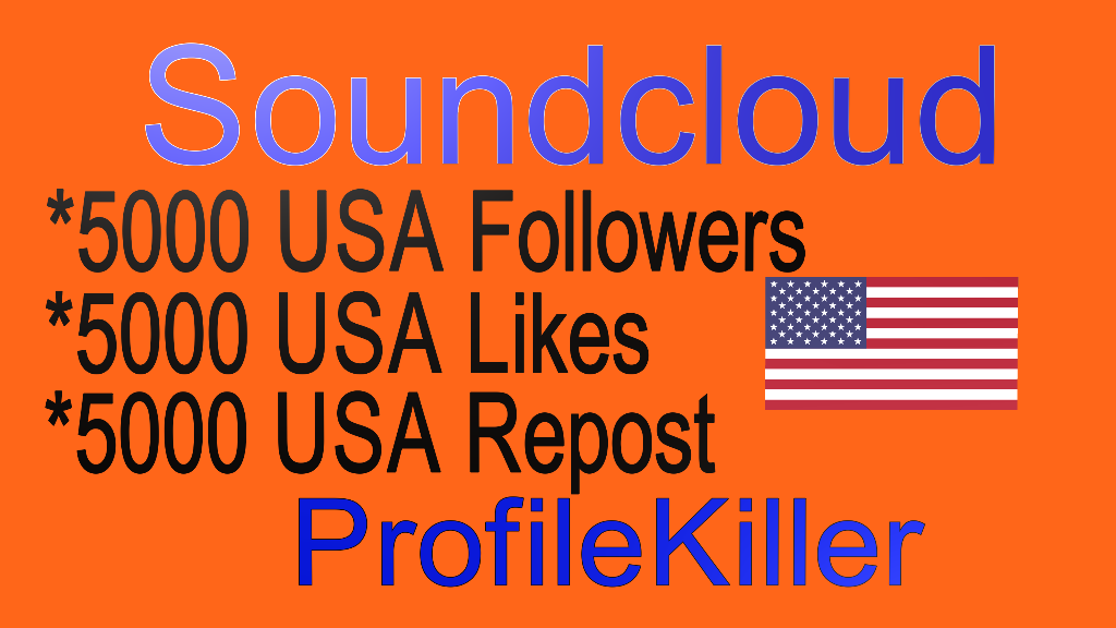 Soundcloud 5000 Likes Or 5000 Repost Or 5000 Followers