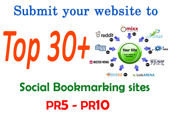 I will manually submit 30 posts your site to any Social Bookmarking with PR8 to PR10