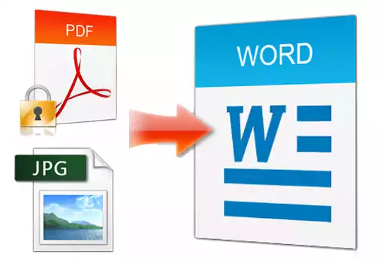 i will type convert or rewrite PDF,  image scanned 25 Page to Word