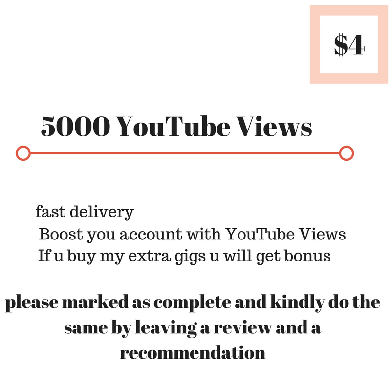 5000 youtube viewers HQ