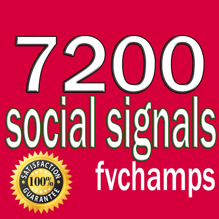 Do 7200 Real SEO Social Signals including PR9 5 Popular Social Media Sites To  Top Ranking Your website