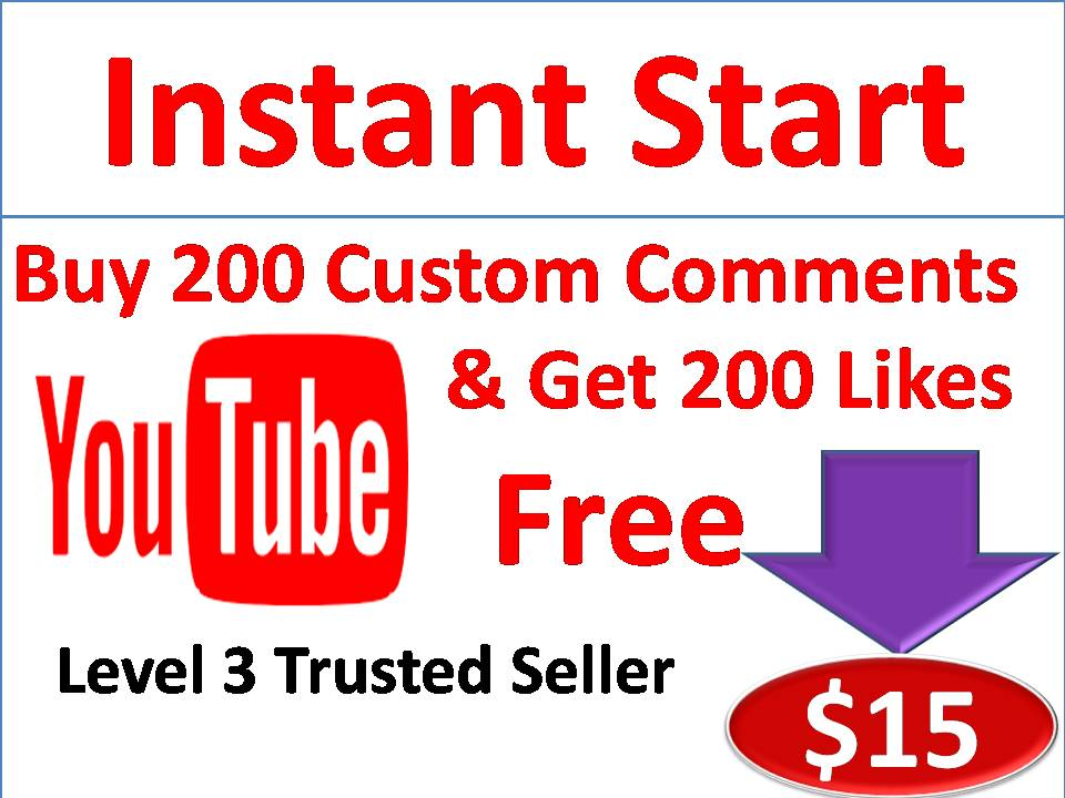 Get 200 Custom Comments on a videos & 200 Likes Free with 12-48 Hours Delivery