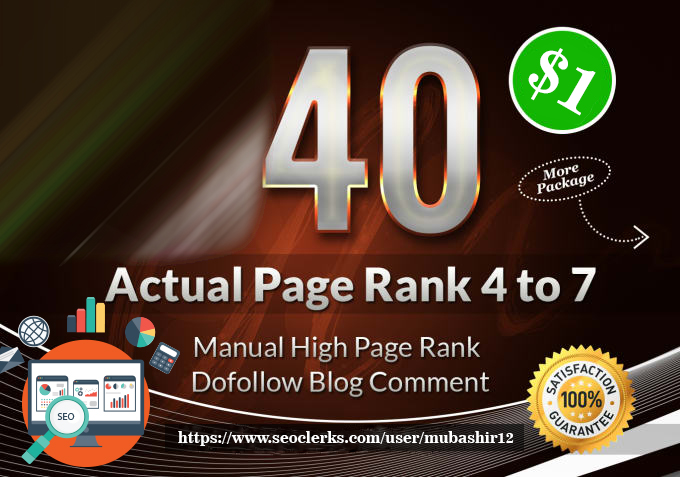 Do High Quality 40 Manual Dofollow Blog Commenting