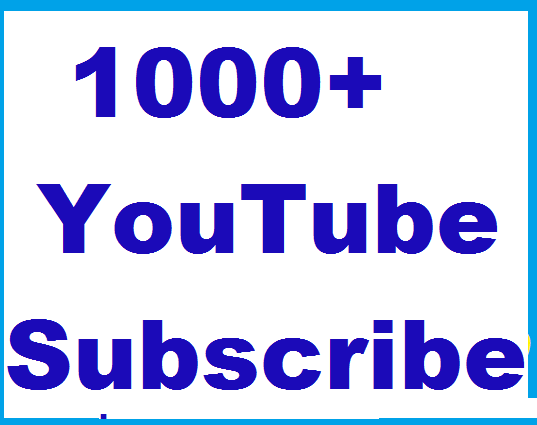 Safe 1000+ YouTube Non drop Subscribers or 2000+ Youtube likes