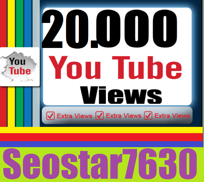 HQ Quality 20.000 You♡Tube View.s only