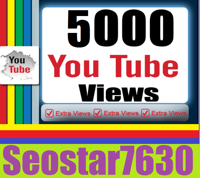 HQ Quality 5.000 YouTube Views+Bonus 100 Video Likes only