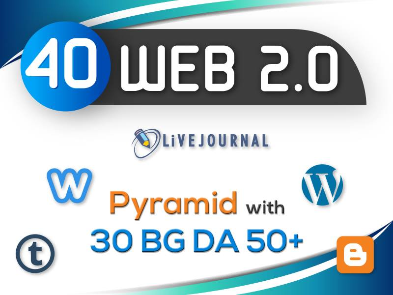 i will make 40 web 2.0 on high PR Backlinks