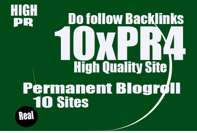 I will give you 10x pr4 homepage blogroll permanent link