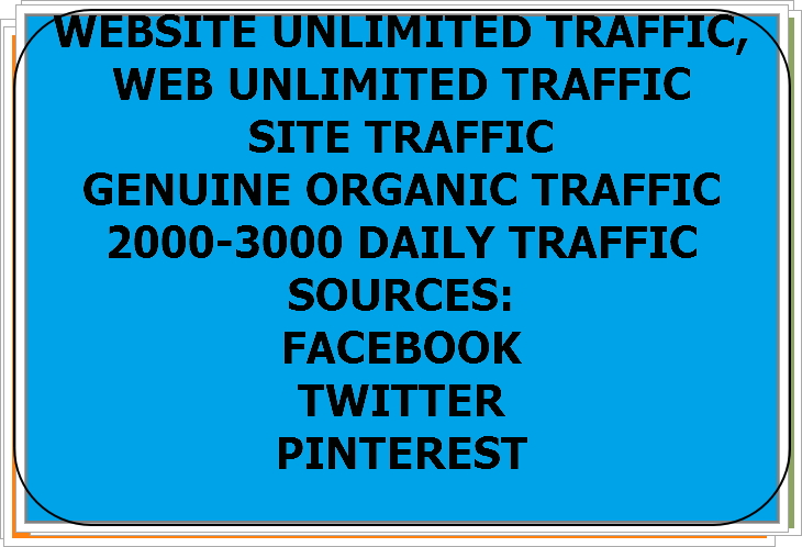 I Will Drive Unlimited organic Website Traffic 2000-3000 Daily