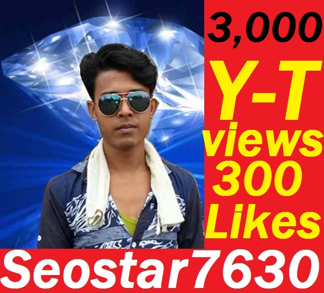 HQ Quality 3,000 Views OR 300+YouTube Video Likes OR 55+Custom Comments Completed