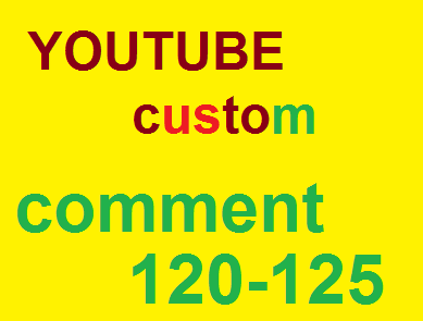 120 YouTube USA custom comme nt very fast 24 hours complete