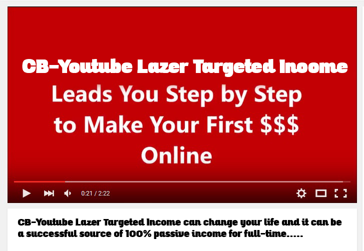 CB-Youtube Lazer Targeted Income eBook