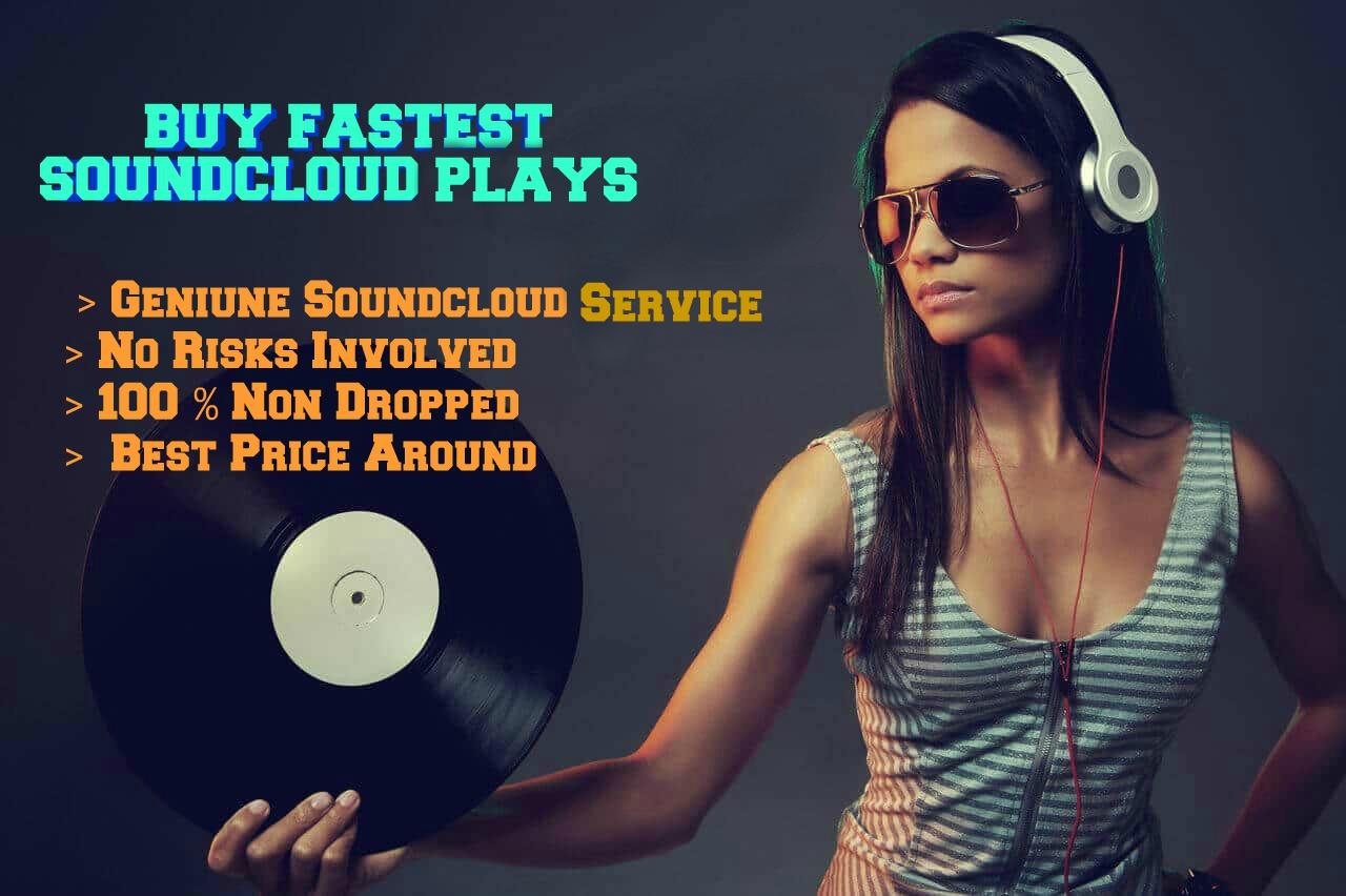 Super Sale 1 Million Soundcloud Plays Fast 30 likes,30 repost & 30 comments