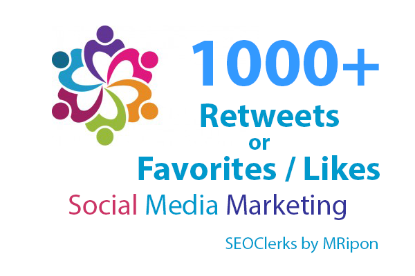 1000+ High Quality Re-Tweets or Favorites