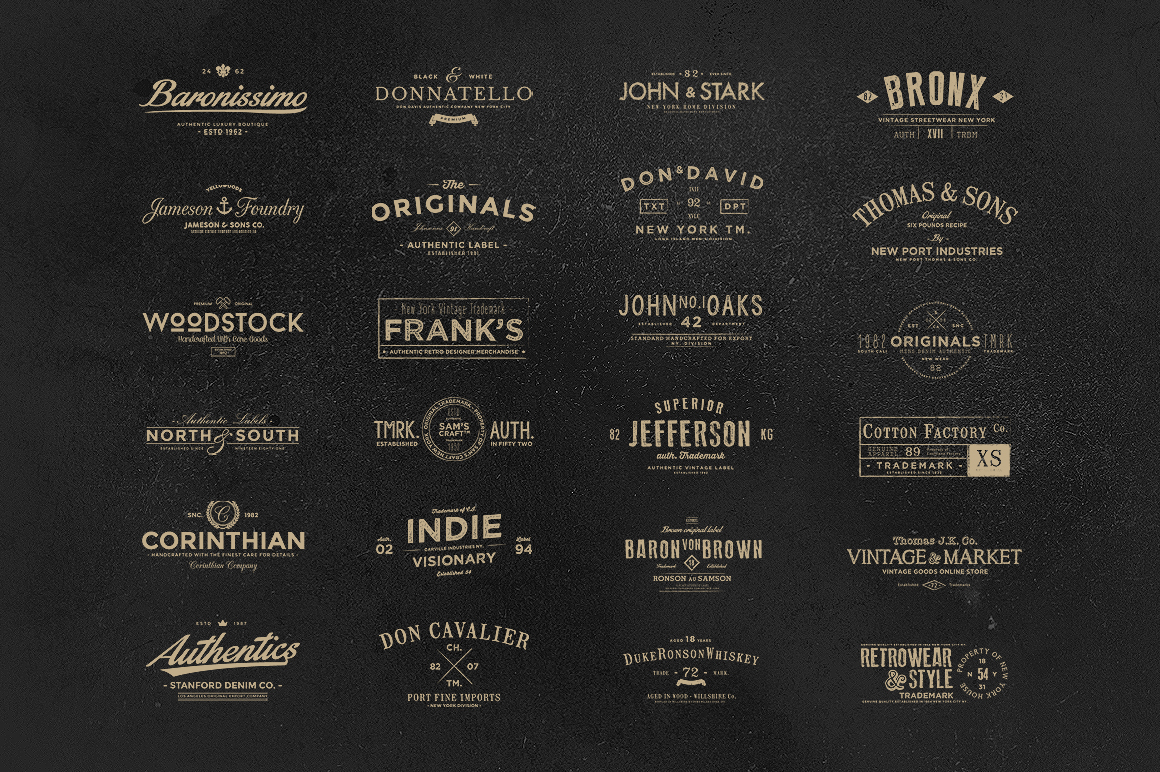 deliver more than 1000 Logo & Badge Type Vintage T-Shirt Templates
