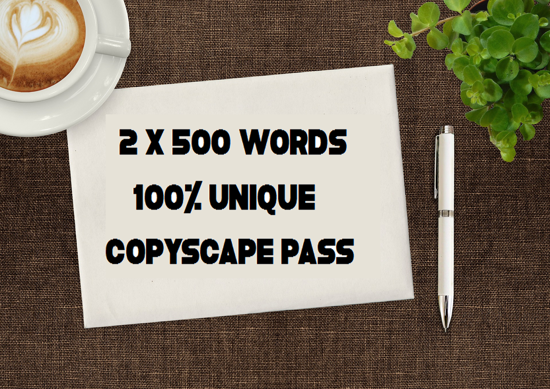 I Will Write 2x500 Word HQ Articles