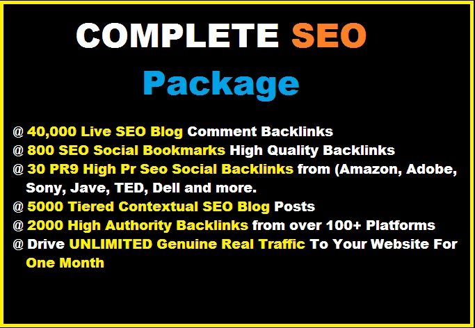 Complete SEO Package on SALE