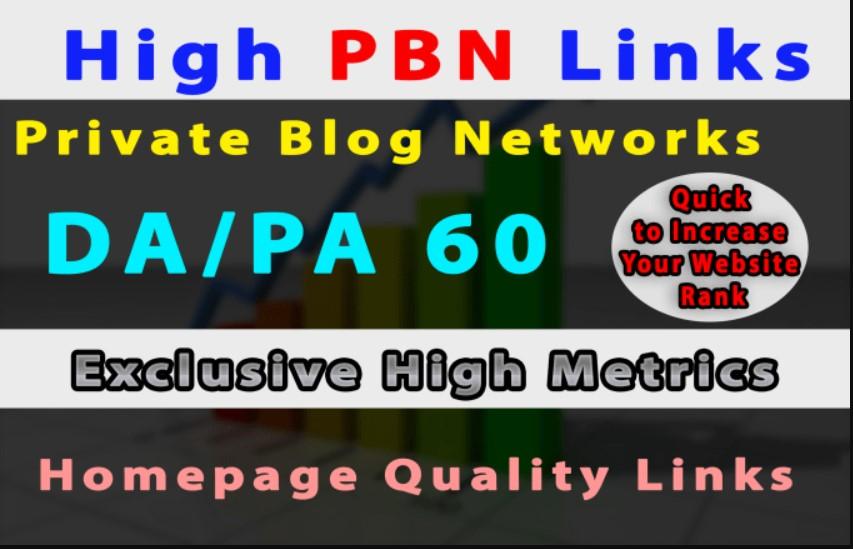 Do 6 High Metrics PBN DA/PA 40-30