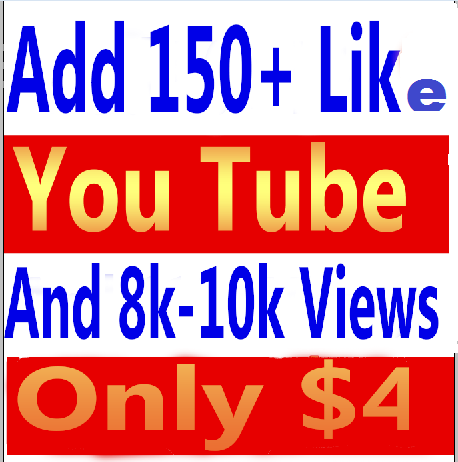I will give you real 10000- 12000 (10k-11k) youtube views and 150+ youtube video likes in your video
