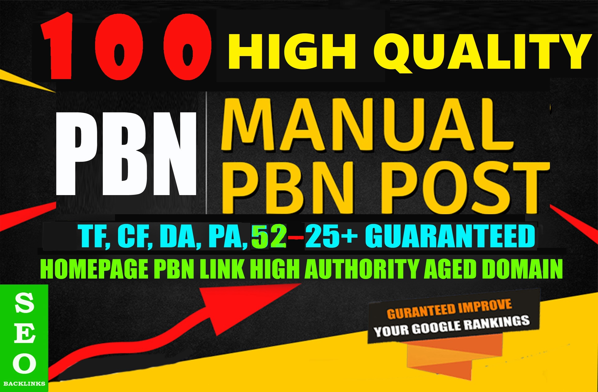 100 Permanent High Quality DA/PA DoFollow HOMEPAGE PBN Links