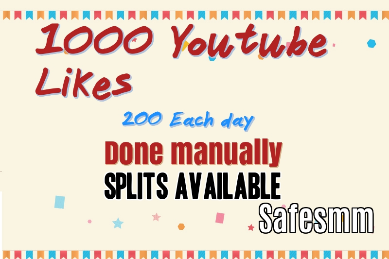 I will do 1000 youtube Likes (200 per day)
