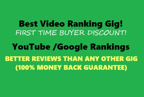 Video will be Ranked in Top 5 Guaranteed 1st Page of YOUTUBE