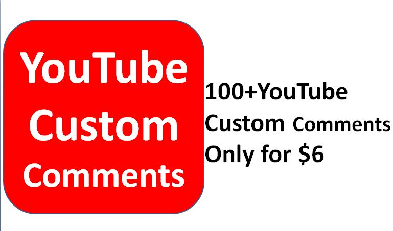 Get 100+ non drop youtube custom comments  on a video only