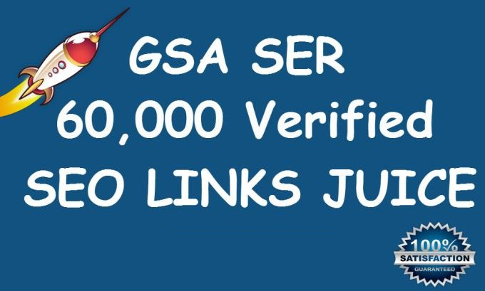 I will do 60,000 Verified GSA Ser Live Backlinks for Seo Rankings