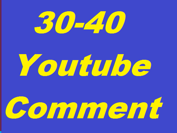 30-40 Youtube Custom Comments All profile picture or 100+ Youtube subscribers
