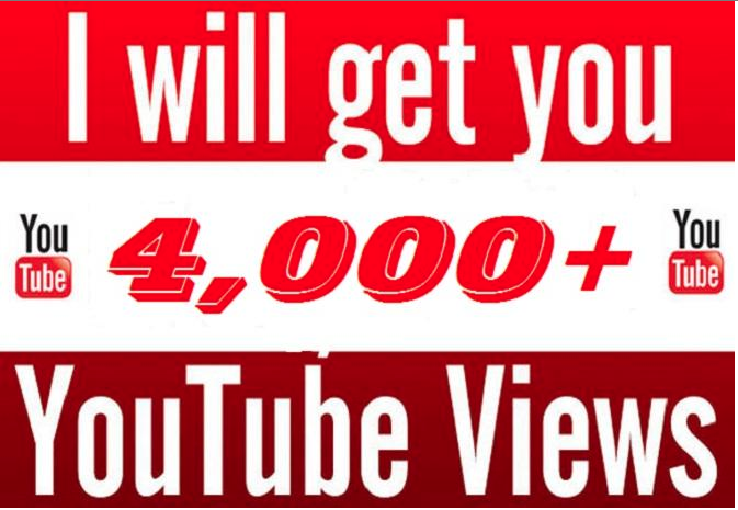 I will Get You 4000 High Quality Youtube Views