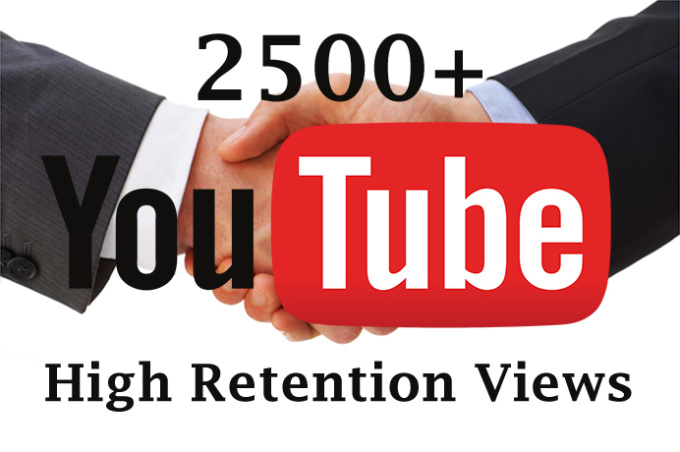 I will Get You 2500 High Retention Youtube Views