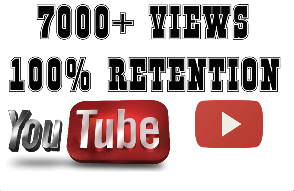 I will add 7000 To 7500+ Youtube views
