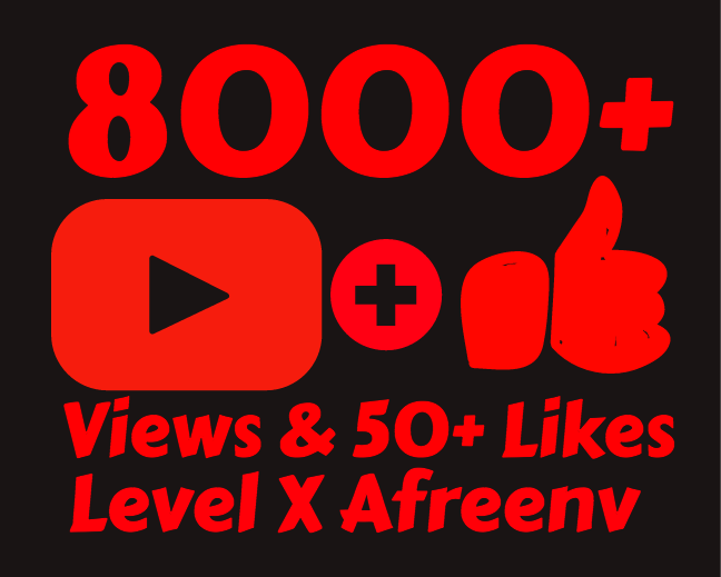 I will add 8000+ High Quality Youtube views and 50+ Likes