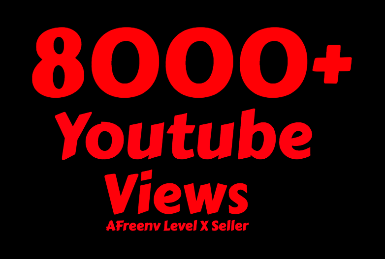 I will add 8000 To 8500+ Youtube views
