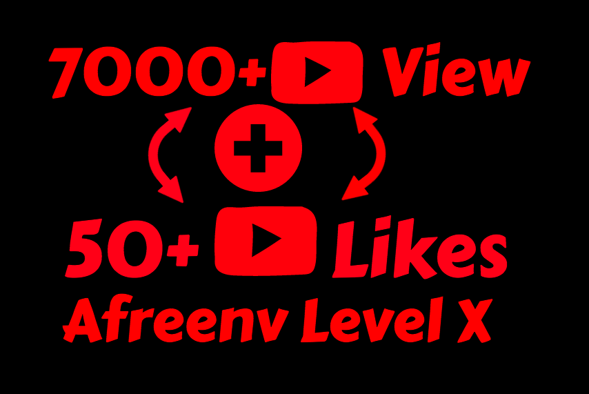 I will add 7000+ High Quality Youtube views and 50+ Likes