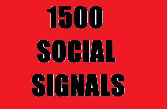 POWERFULL HQ ORGANIC 1500 social signals  4 best social midea site