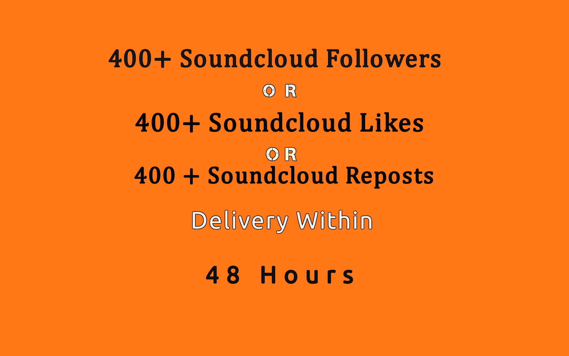400+ soundcloud followers or likes or reposts