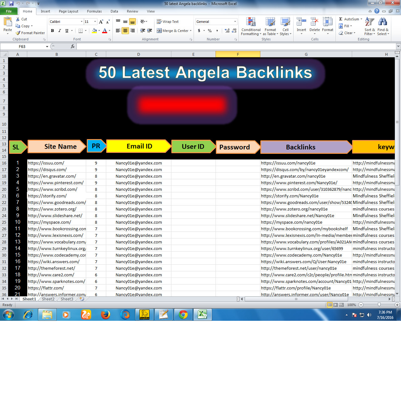 Do exclusive 50 Latest Angela profile Back links
