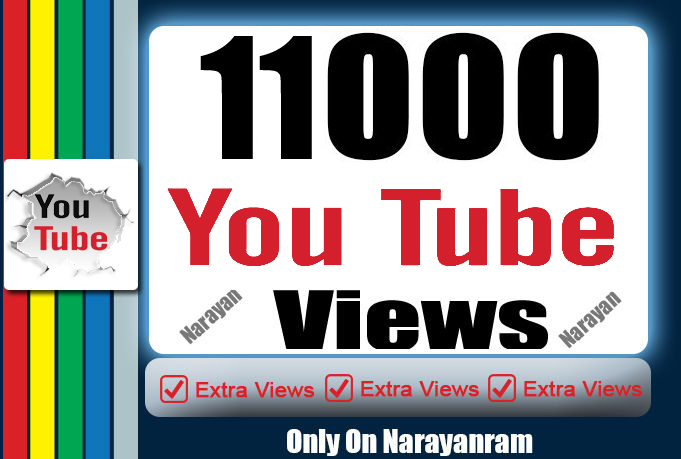 11000 High Quality Views Instant Start Fully safe