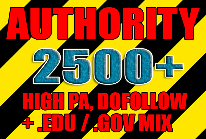 Get over 2500 dofollow, high pa, edu and gov backlinks