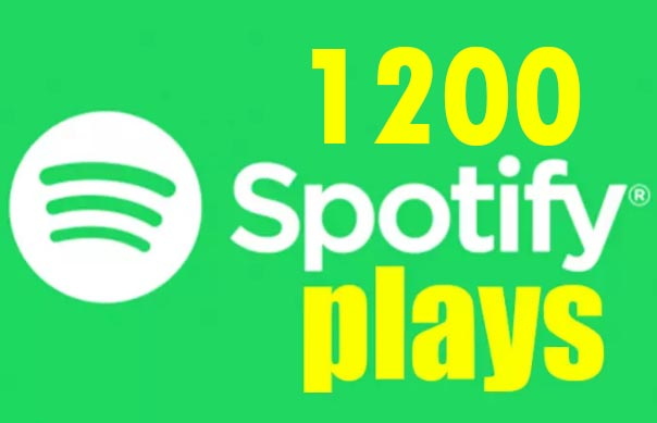 I will do real SPOTIFY promotion with 1200 spotify plays