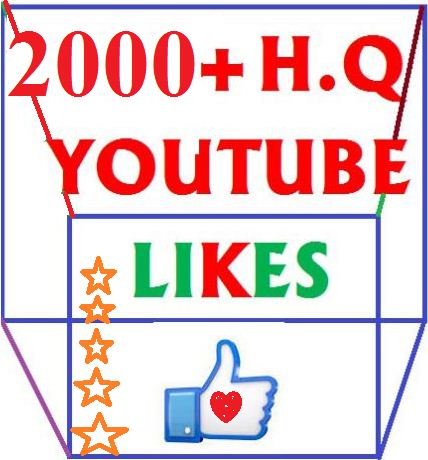 2000+ High Quality  youtube likes or 500 subscribes  very short times