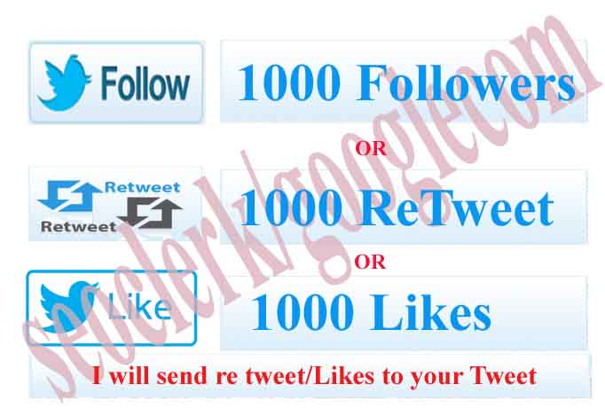 Instant1000 followers or  Retweets or Favorites so fast