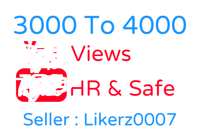 Get 3000 To 4000 High Retention and Safe YouTube Video Promotion