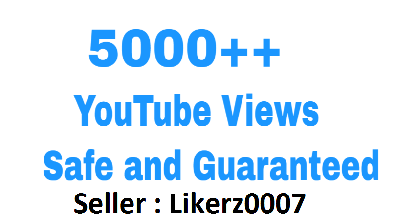 Get 5000++ High Retention and Safe YouTube Video Promotion