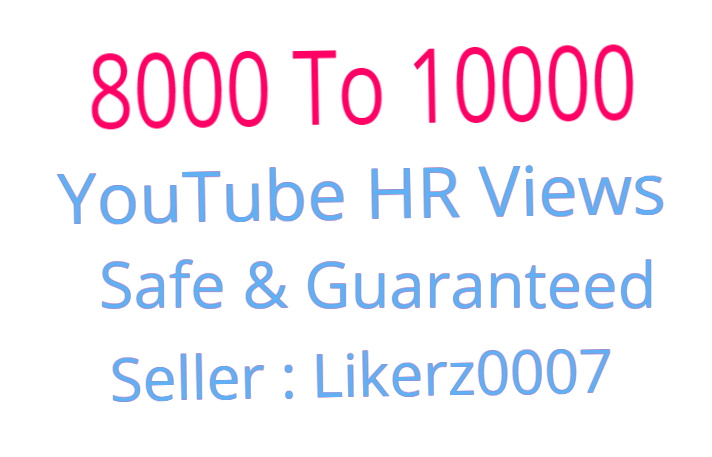 I will Add 8000 To 10000 High Retention Safe And Non Drop Youtube Video Promotion