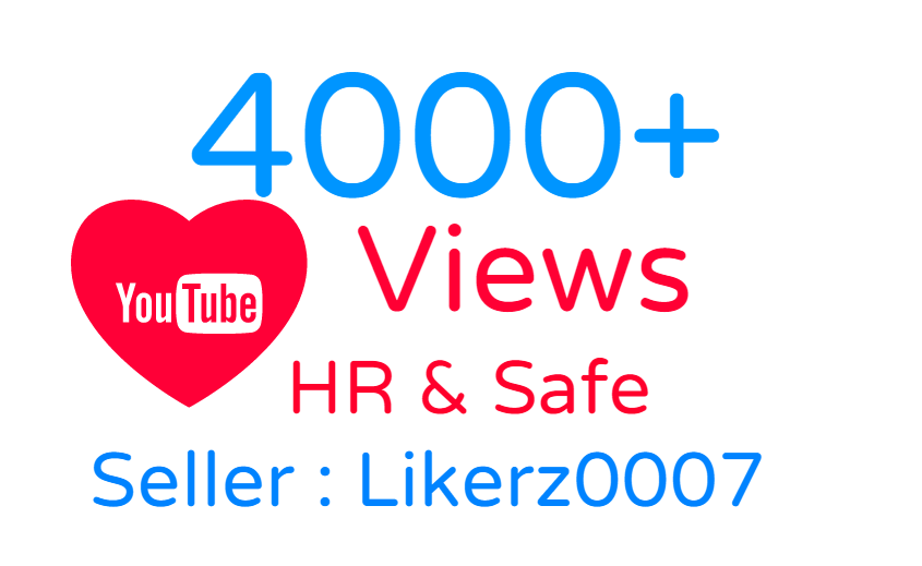 I will Add 6000++ High Retention Safe And Non Drop Youtube Video Promotion